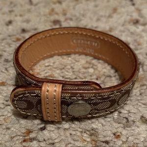 Coach Signature Bracelet with Snap
